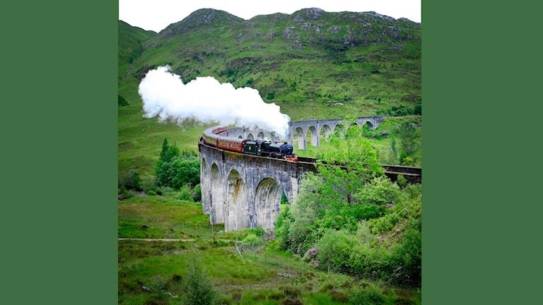Järnvägsbron i Skotska Glenfinnan har blivit världskänd genom filmerna om trollkarlen Harry Potter.