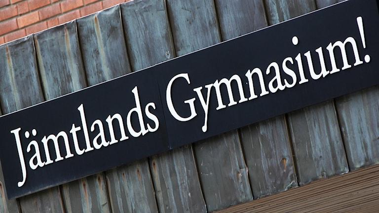 Skylt Jämtlands gymnasium