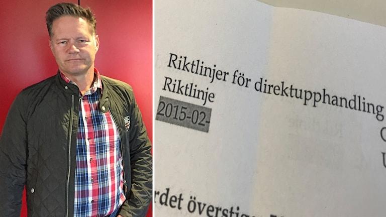 Jonas Törngren, kommundirektör i Krokoms kommun och riktlinjer för direktupphandling.