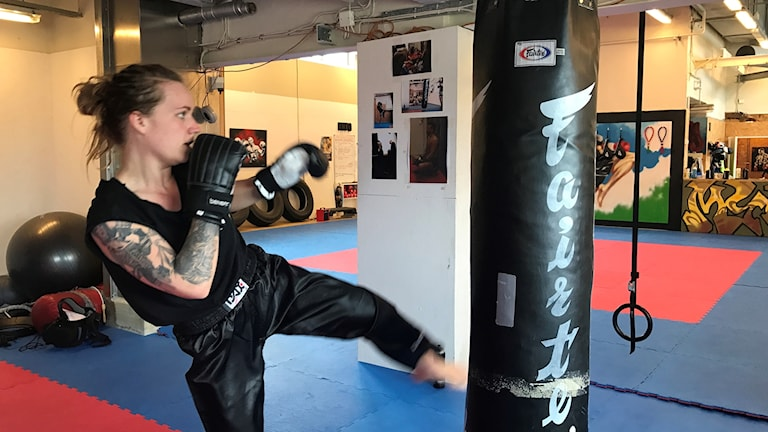 Elin Nilsson, SM-vinnaren i kickboxning