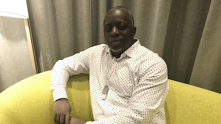David Tanda, ordförande i kongolesiska föreningen i Östersund.