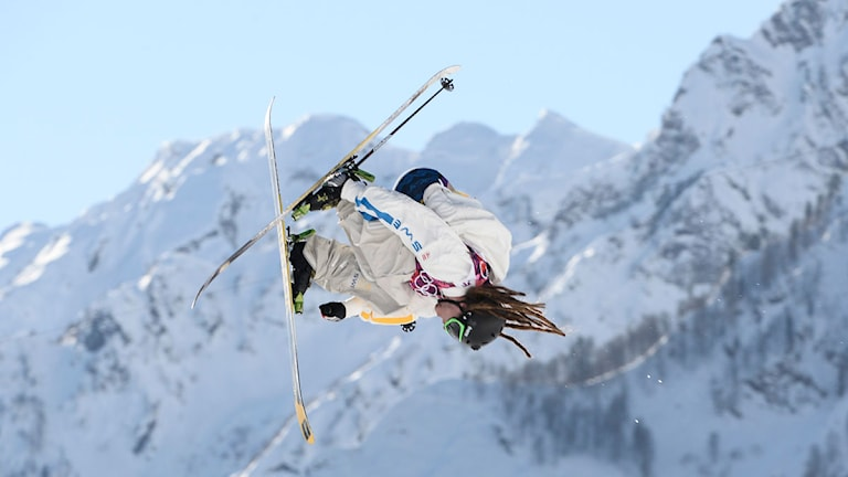 Henrik Harlaut i kvalet till slopestyle under OS i Sochi 2014. Foto: Pontus Lundah/TT.