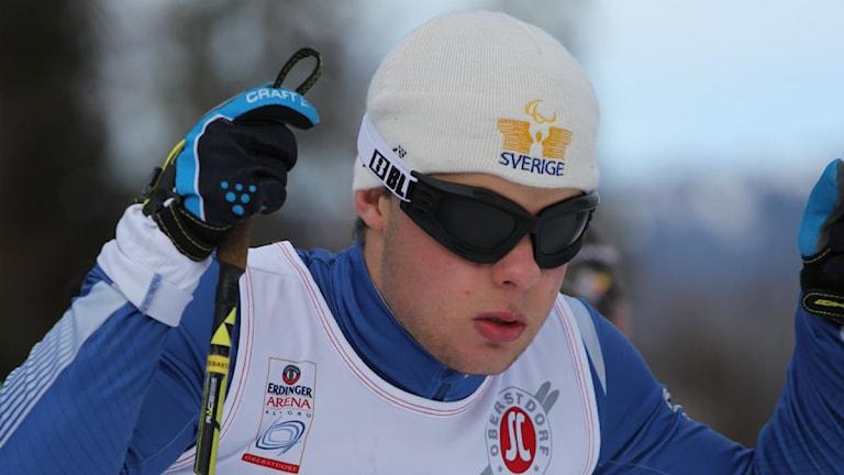 Zebastian Modin från Frösön siktar på medalj i Palalympics i Sotji. Foto: Privat.