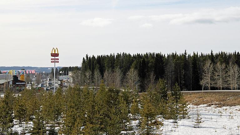 Köpcentrum i Lillänge. Foto: Janne Mårdberg/Sveriges radio.