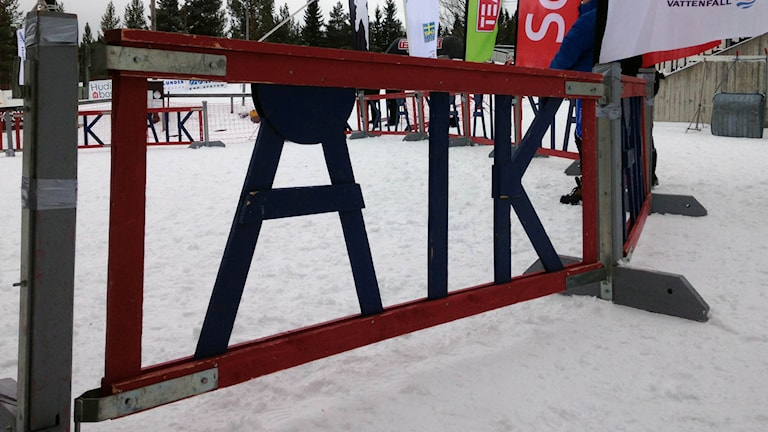 Staket vid skidspåret i Åsarna