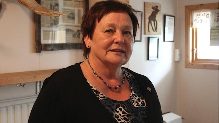 Gudrun Hansson, kommunalråd i Strömsund. Foto: David Ohlsson/Sveriges radio.