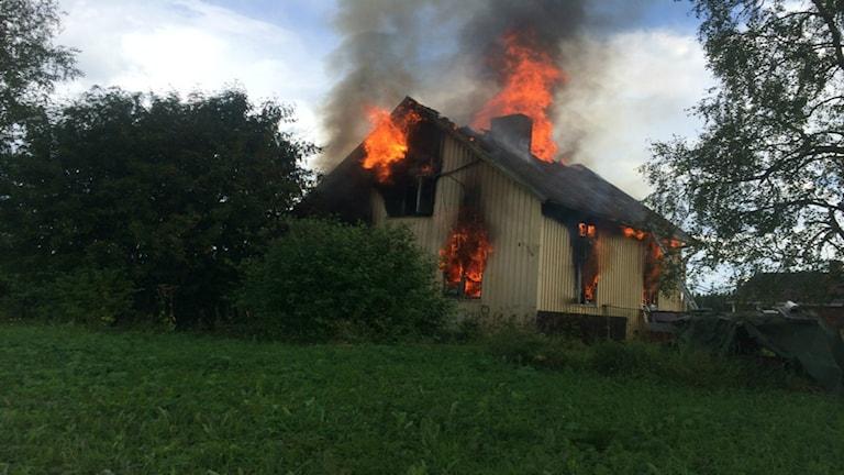 Villabrand i Hammerdal. Foto: Räddningstjänsten