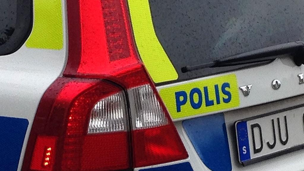 Polisbil. Foto: Karin Bångman/Sveriges radio.
