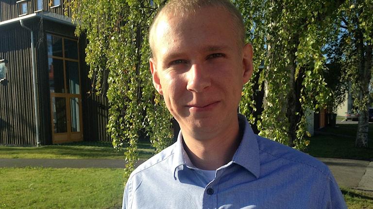 Linus Kimselius, Moderaterna i Krokom. Foto: Annelie Lanner/Sveriges radio.