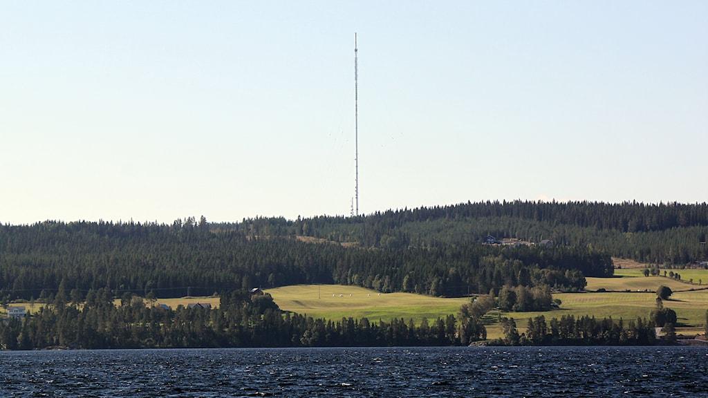Radiomasten på Brattåsen. Foto: Janne Mårdberg/Sveriges radio.