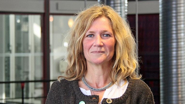 Anna Hildebrand (MP). Foto: Janne Mårdberg/Sveriges radio.