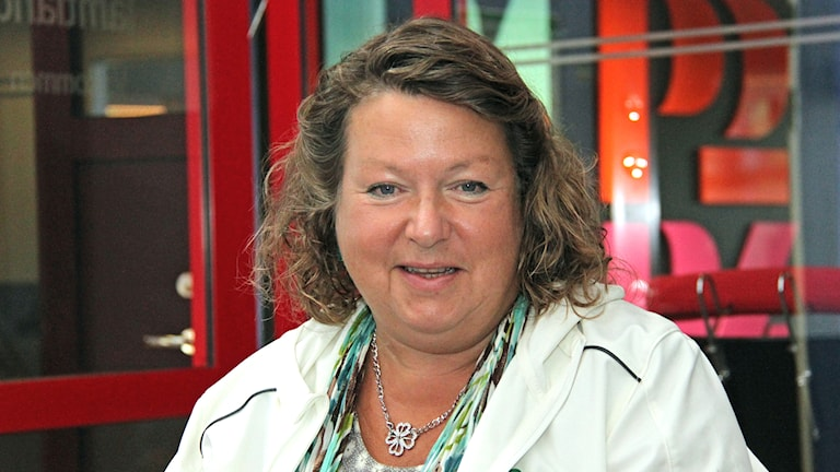 Eva Hellstrand (C). Foto: Janne Mårdberg/Sveriges radio.