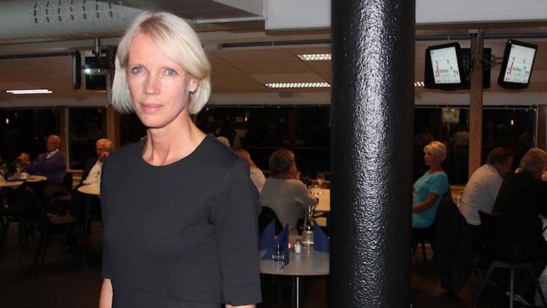 Saila Quicklund (M) är kritisk till en flygskatt. Foto: Marcus Frånberg/SR