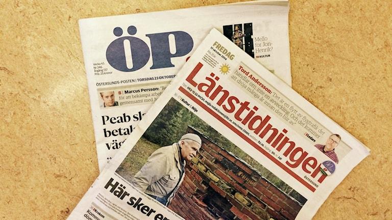 lokaltidningarna