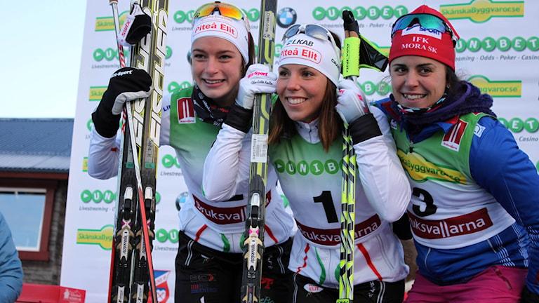 Sofia Henriksson, Charlotte Kalla och Anna Haag