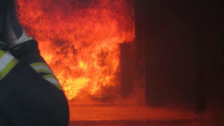 Brand eld brandman räddningstjänst