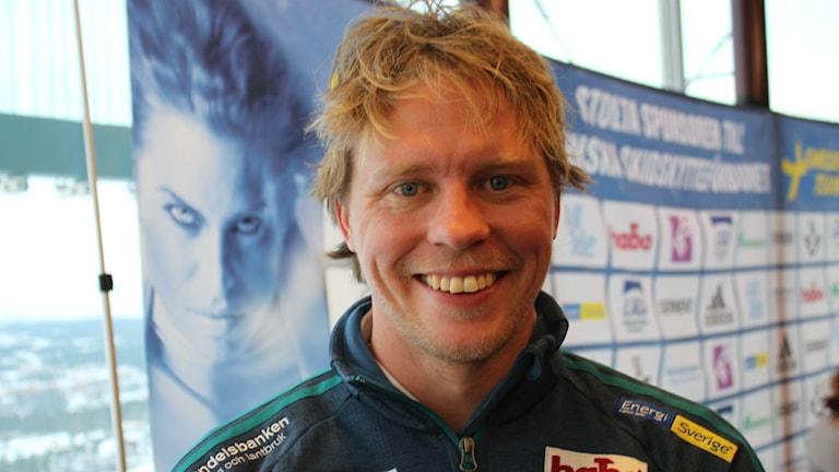 Skidskyttarnas förbundskapten Johan Hagström. Foto: Annelie Lanner/SR.