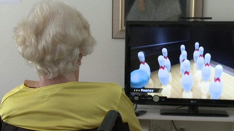 Pensionär TV-spel Foto Erland Vinberg / TT