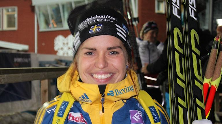Skidskytten Elisabeth Högberg i Östersund.