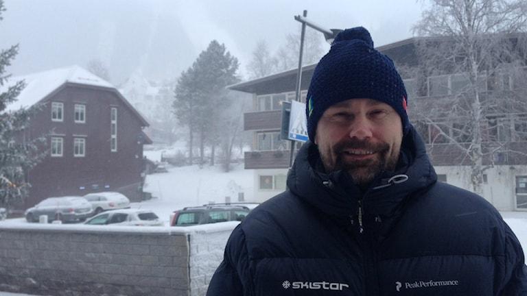 Niclas Sjögren Berg destinationschef Skistar Åre. Foto: Sara Johansson/ Sveriges Radio
