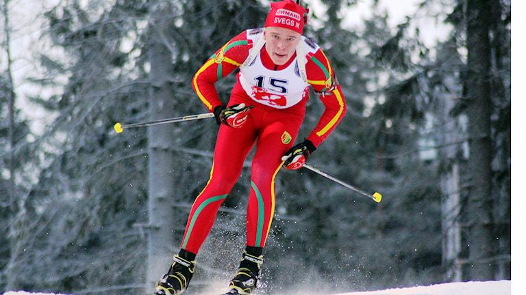 Markus Stenberg, Svegs IK, JH-cup i skidskytte, Östersund 141220. Foto: Anders Andersson