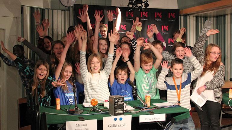Gällö skola vann den andra kvartsfinalen. Foto: Janne Mårdberg/Sveriges radio.