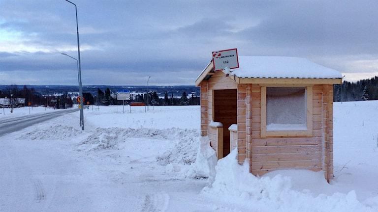 Länstrafiken, Jämtland, Oviken, hållplats, busshållplats, glesbygd,  buss, resenär