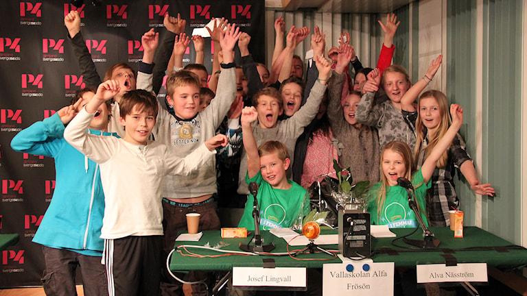 Vallaskolan segrade i den tredje kvartsfinalen. Foto: Janne Mårdberg/Sveriges radio.