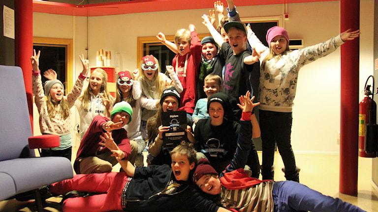 Länsvinnare blev Stamgärde skola från Undersåker. Foto: Janne Mårdberg/Sveriges radio.
