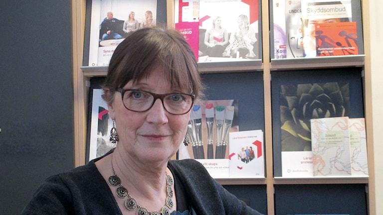 Eva Frank, Lärarförbundets ordförande Östersund. Foto: Johanna Nyman/ SR