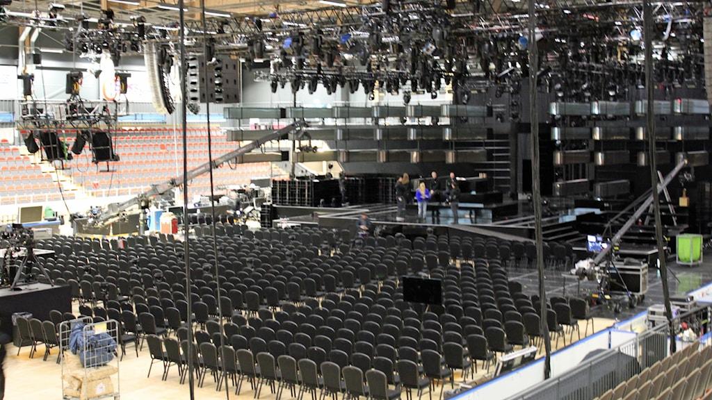Vy över Östersunds Arena inför Mellon. Foto: Agneta NilssonSR