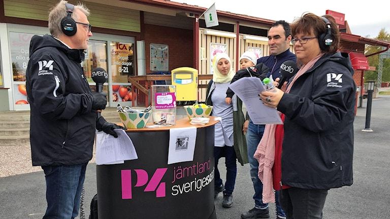 P4 Jämtland sände direkt från Sveg, programledare Leif Landin och Anneli Johansson