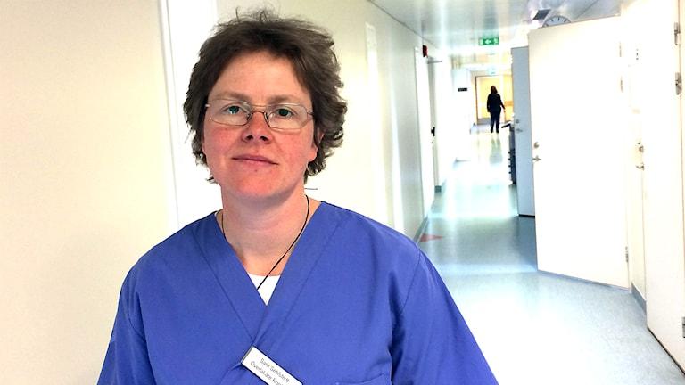 Sara Sehlstedt är läkare och ordförande för läkarförbundet i Jämtlands län