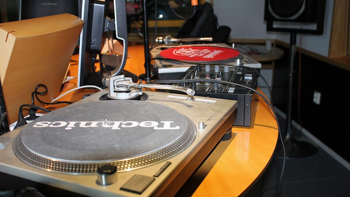 Skivspelare. Foto: Lars Gustafsson/Sveriges radio.