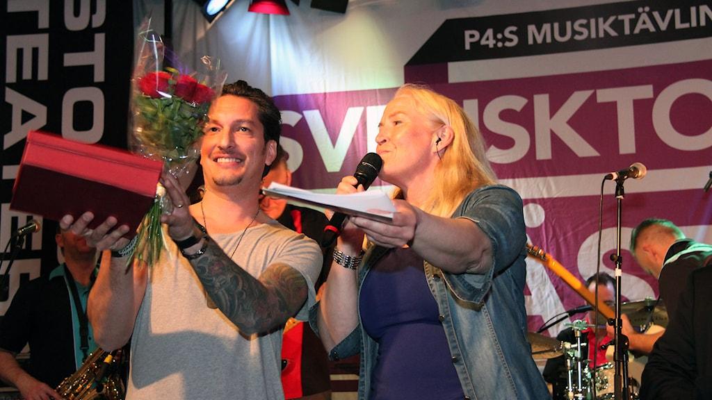 Michael Michailoff segrade i finalen 2015. Foto: Janne Mårdberg/Sveriges radio.