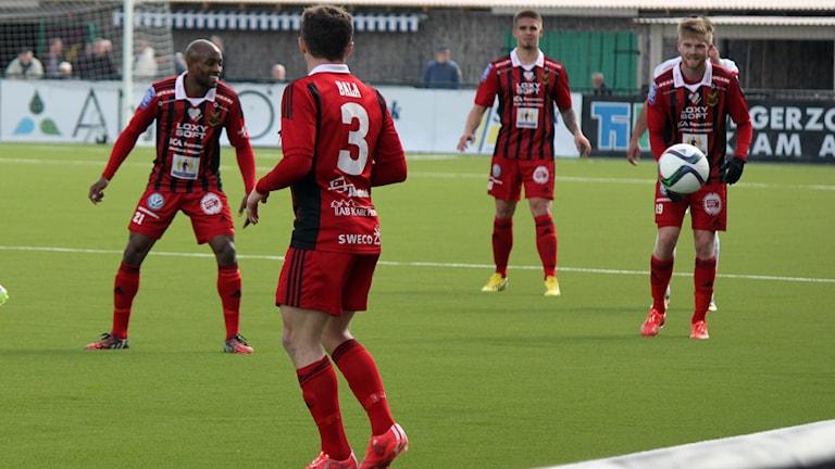 Fyra spelare i ÖFK på fotbollsplanen