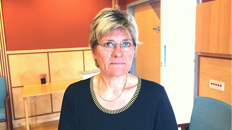Hälso- och sjukvårdsdirektör Nina Fållbäck-Svensson. Foto: Filip Gustafsson Högman/Sveriges radio.