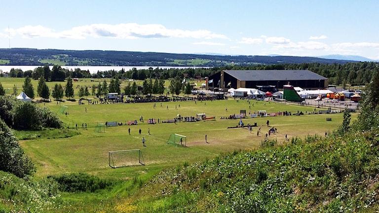 Storsjöcupen 2015 översiktsbild över Sportfältet, finaldagen lördag 150704. Foto: Michael Ragnarsson/SR