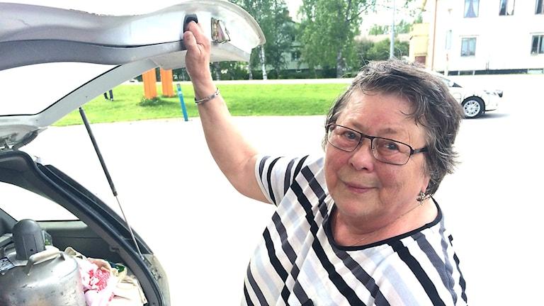 Ulla Bixo säger att det behövs kontander på landsbygden. Foto: Filip Gustafsson Högman/SR