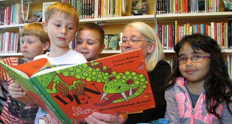 Bokstund på Hallens bibliotek. Foto: Leif Landin/Sveriges radio