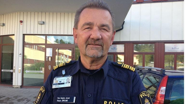 Stephen Jerand, polisområdeschef Jämtlands län. Foto: Peter Söderlund/Sveriges Radio.