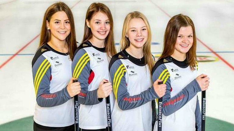östersunds curlingklubb, Tova Sundberg, Sandra Ljungberg, Sofie Bergman och Emma Sjödin