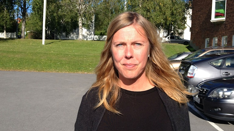 Lena Hellberg vid Ung integration i Östersund. Foto: Peter Söderlund/Sveriges Radio.