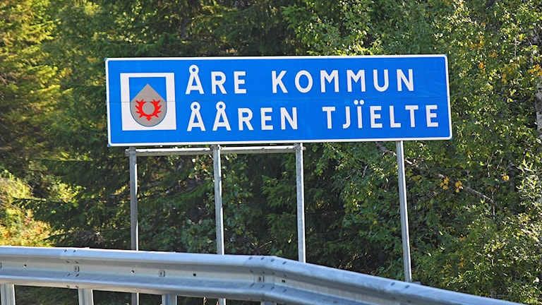 Åre kommungräns Skalstugevägen vid Sandvika