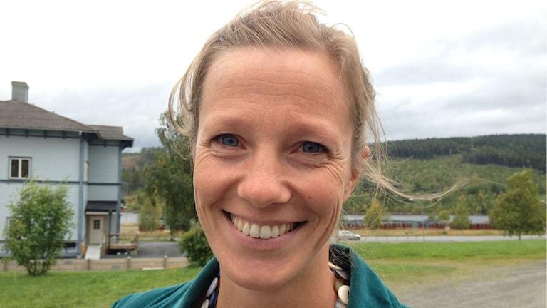 Karin Ramström, etableringskoordinator Åre kommun. Foto: Peter Söderlund/Sveriges Radio.