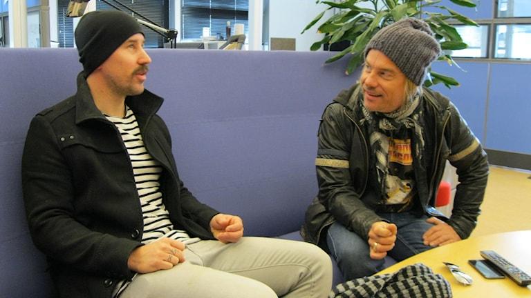 Johan Arveli och Björn Höglund. Foto: Stefan Hanberg/Sveriges Radio