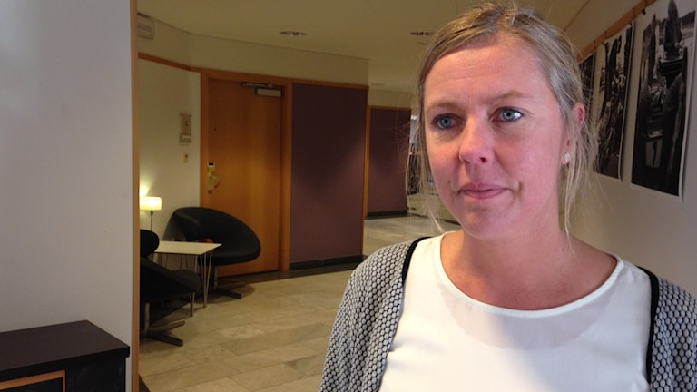 Lena Hellberg, teamchef Ung Integration på Socialförvaltningen Foto: Johanna Svensson/ Sveriges Radio.