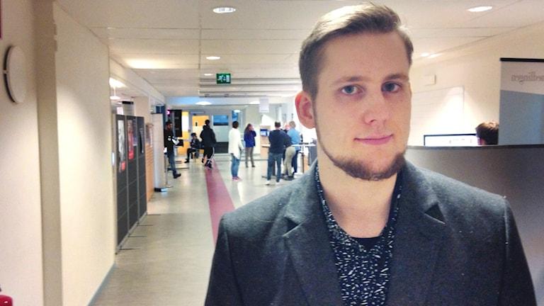 Sebastian Pettersson verksamhetssamordnare Arbetsförmedlingen Östersund. Foto: Fredrik Vestberg/Sveriges radio