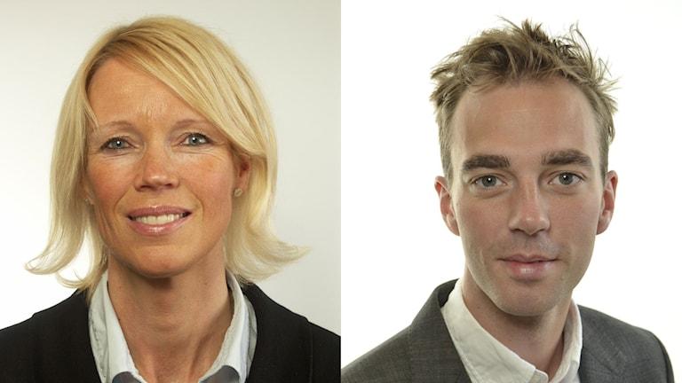 Saila Quicklund (M) och Kalle Olsson (S). Foto: Riksdagsförvaltningen.