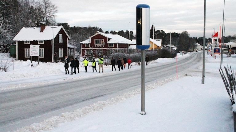 E45 genom Åsarna i södra Jämtland. Foto: Marcus Frånberg/Sveriges Radio